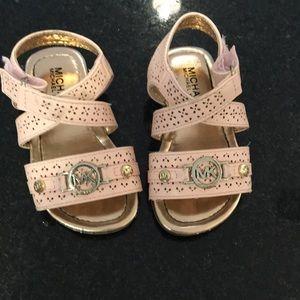 Michael kors pink/gold sandals size 6